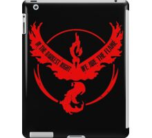 Team Valor - In the Darkest Night, We are the Flame Design #2 iPad Case/Skin