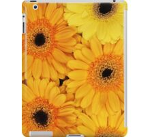 Blooming Gerbera Flowers and Petals - Yellow iPad Case/Skin