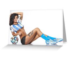 World Cup BodyPaint Greeting Card