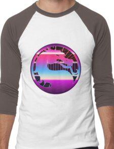 80's Cyber Grid Mortal Kombat Logo Men's Baseball ¾ T-Shirt