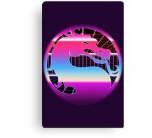 80's Cyber Grid Mortal Kombat Logo Canvas Print