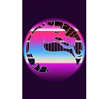 80's Cyber Grid Mortal Kombat Logo Photographic Print