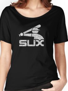Vintage White Sux - Black Women's Relaxed Fit T-Shirt