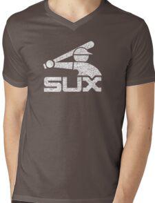 Vintage White Sux - Black Mens V-Neck T-Shirt