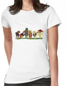 Canines Assemble! Womens Fitted T-Shirt