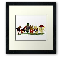 Canines Assemble! Framed Print