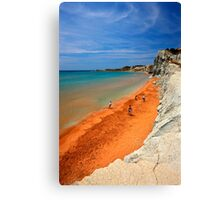 "Xi, the ""Red"" beach - Kefalonia island Canvas Print"