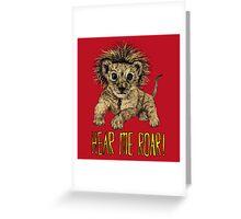 Hear me Roar! // lion Greeting Card