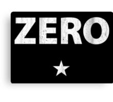 Vintage Zero Star Canvas Print