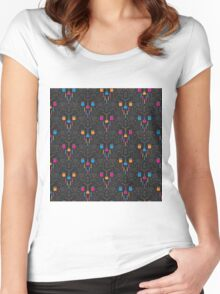 Mad Science Damask Women's Fitted Scoop T-Shirt