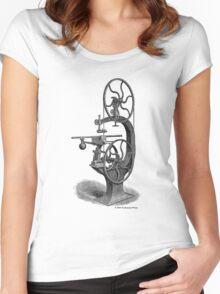 Griffith's Patent Band Saw c1890 Women's Fitted Scoop T-Shirt