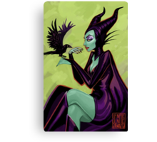 Maleficent Pinup Canvas Print