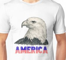 "Eagle ""America"" (stars & stripes) Unisex T-Shirt"