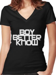BBK Boy Better Know Women's Fitted V-Neck T-Shirt