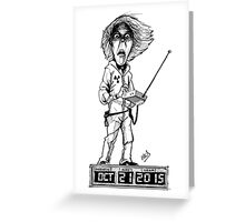 Doc Brown Greeting Card