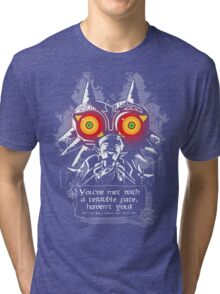 Majoras Mask - Meeting With a Terrible Fate Tri-blend T-Shirt