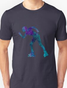 Woman in roller skates 06 in watercolor Unisex T-Shirt