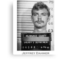 Jeffrey Dahmer Serial Killer Mugshot  Canvas Print