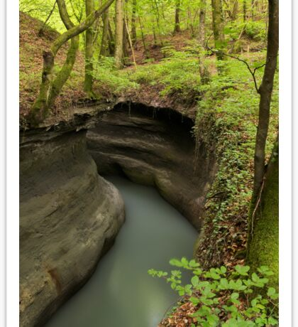 Parnant river through the springtime forest Sticker