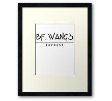 B.F. Wangs Framed Print