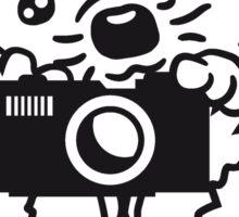 kamera foto bild machen fotograf winken baby kugel süßer kleiner niedlicher igel  Sticker