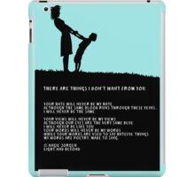 Poem - 'Your hate' iPad Case/Skin