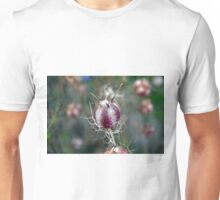 Natural background with purple spiky bulbs. Unisex T-Shirt