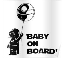 Baby On Board Black Poster