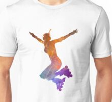Woman in roller skates 07 in watercolor Unisex T-Shirt