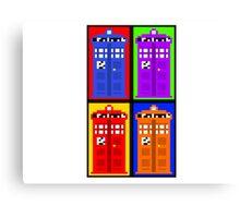 TARDIS Pixelart Canvas Print