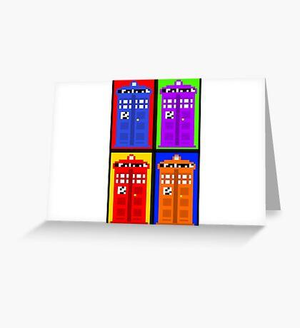 TARDIS Pixelart Greeting Card