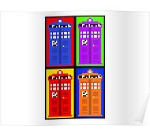TARDIS Pixelart Poster