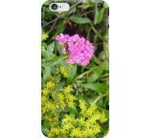 Natural background with vegetation and purple flowers. iPhone Case/Skin