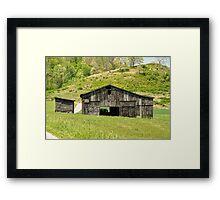 Barn - Tire Center Framed Print