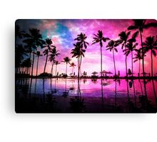 Neon Sunset Canvas Print