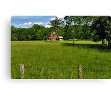 Beyond the Fence line  Canvas Print