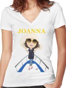 Joanna Women's Fitted V-Neck T-Shirt