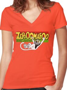 Zoboomafoo Women's Fitted V-Neck T-Shirt