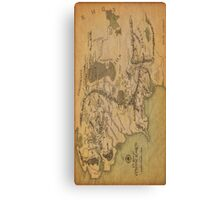 Middle Earth Map Canvas Print