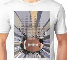 Rugby Ball on Rays Background 2 Unisex T-Shirt
