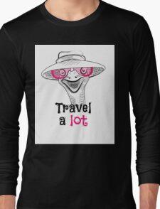 head ostrich travel a lot Long Sleeve T-Shirt