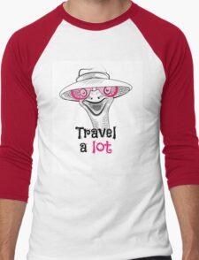 head ostrich travel a lot Men's Baseball ¾ T-Shirt