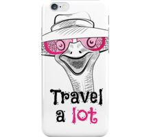 head ostrich travel a lot iPhone Case/Skin