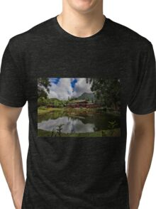 The Byodo-In Temple Tri-blend T-Shirt