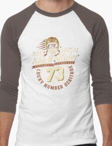 Grunge racer logo Men's Baseball ¾ T-Shirt