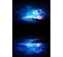 Night Sky and River Photographic Print