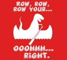 Row, row, row your... ooohhh... right. kids funny t-shirt One Piece - Short Sleeve