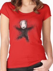 funny ghibli friends Women's Fitted Scoop T-Shirt