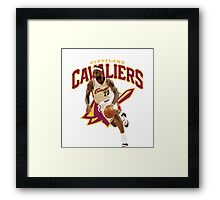 LEBRON JAMES THE CLEVS Framed Print