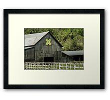Kentucky Barn Quilt - 3 Framed Print